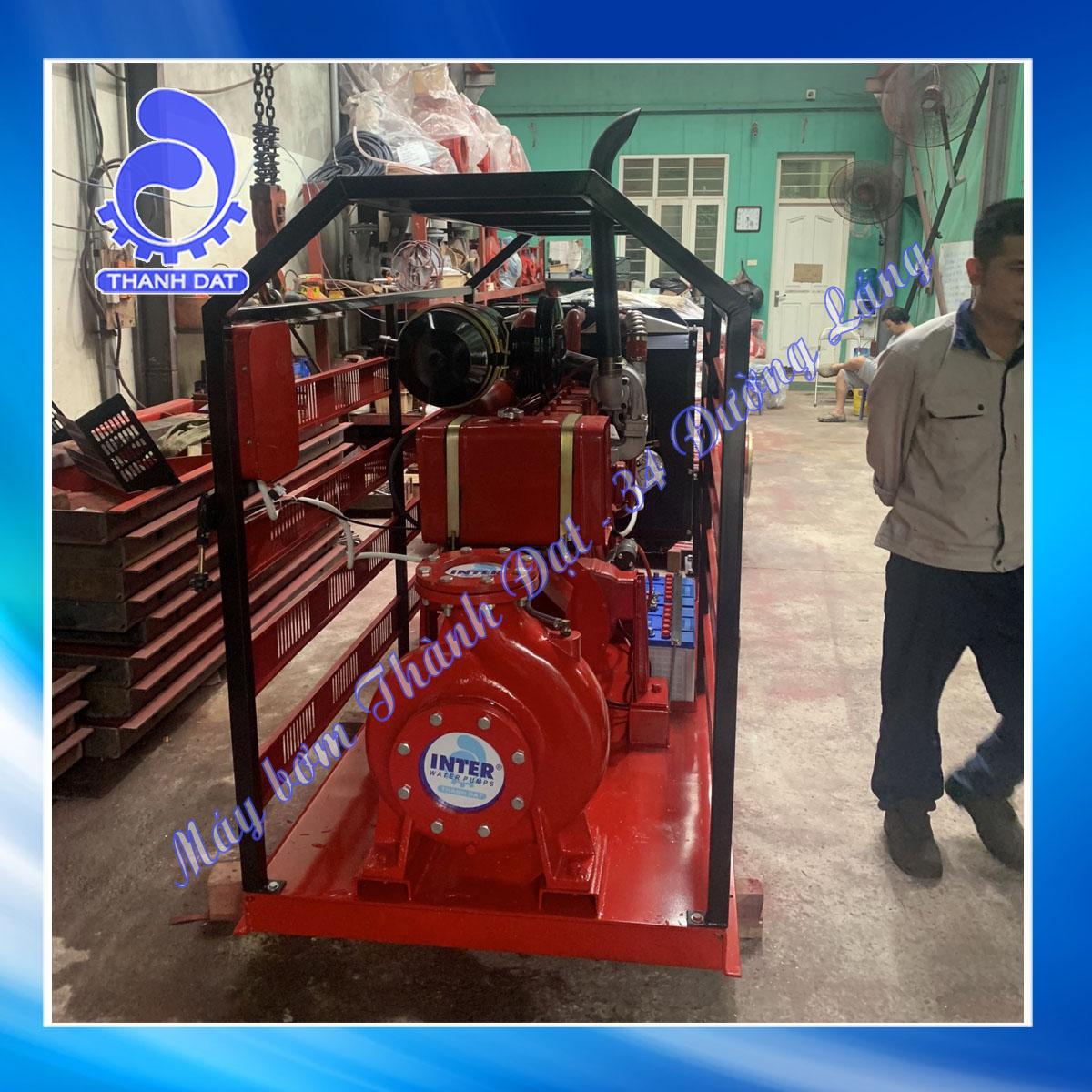 Máy bơm chữa cháy diesel Hyundai đầu bơm Inter CA65-250A 50HP 37KW