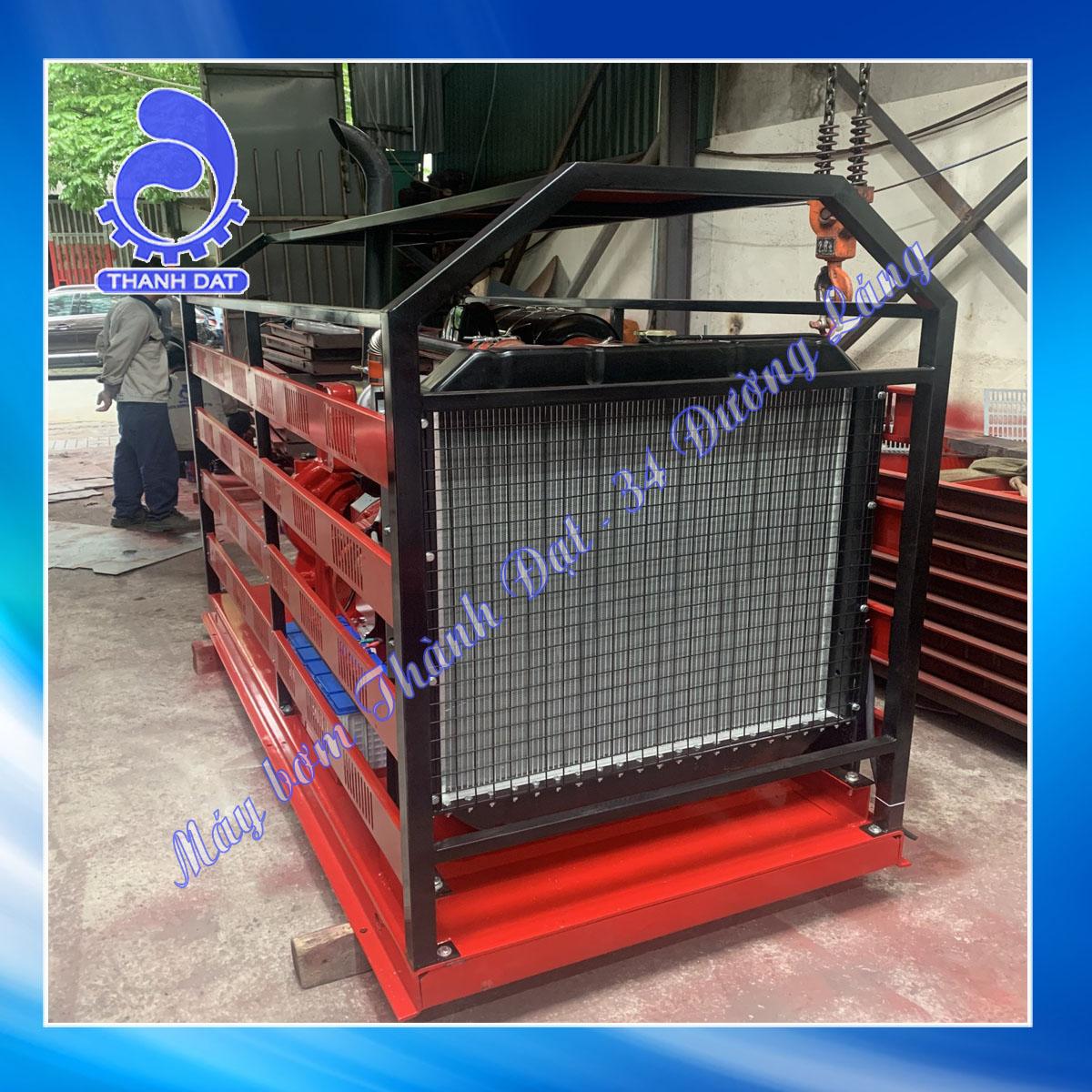 Máy bơm chữa cháy diesel Weifang đầu bơm Inter CA125-315/132 180HP 132KW